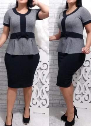 Vestido social moda evangélica ref 673