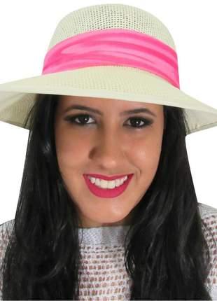 Viseira de praia feminina com faixa rosa