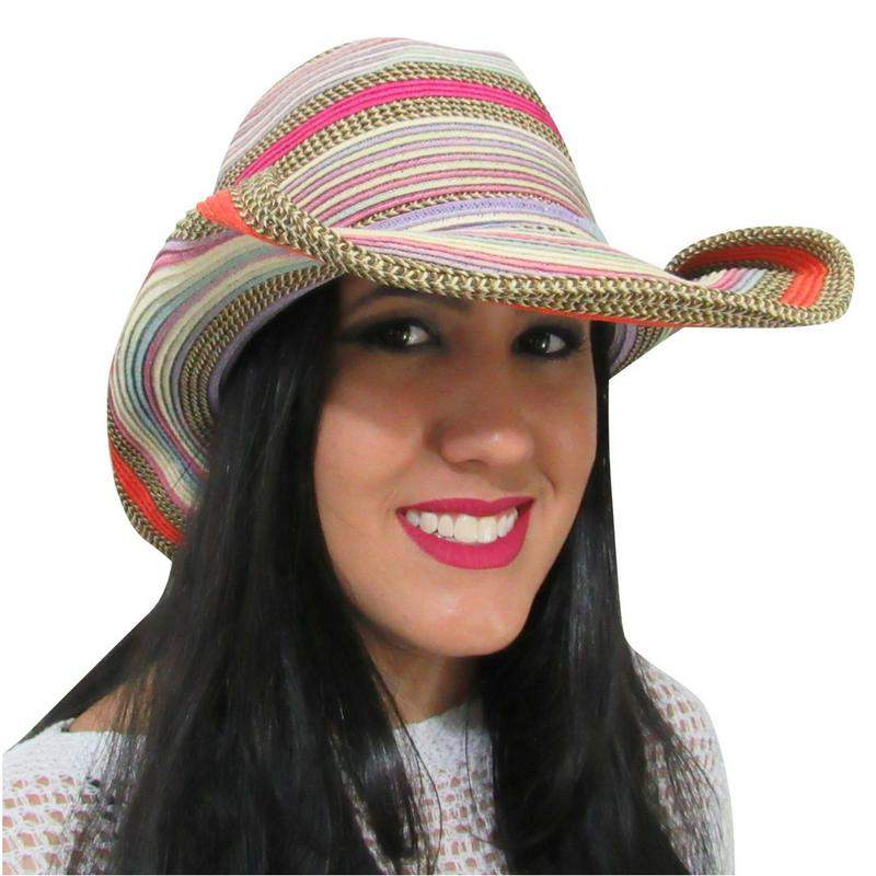 fed8b286ab1fa Chapéu de praia feminino country colorido - R$ 59.90 #4304, compre ...