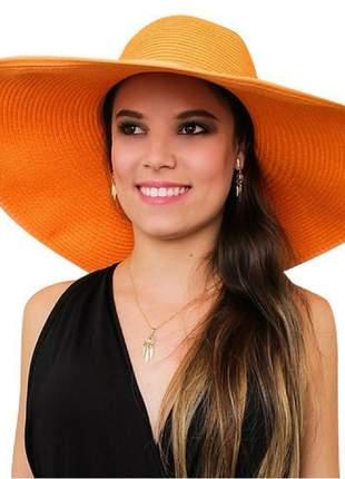 Chapéu de praia feminino laranja