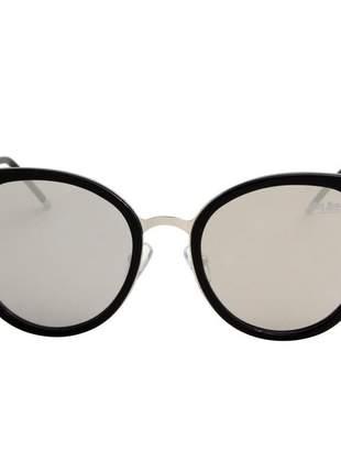 Oculos de sol feminino gatinho preto espelhado