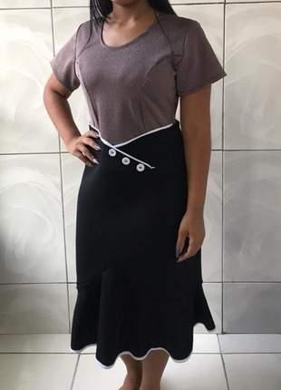 Vestido moda evangélica ref 681