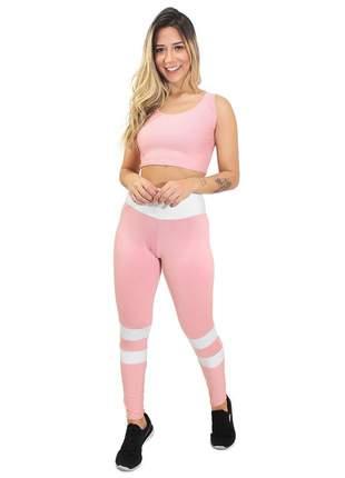 Calça fitness cropped levanta bumbum conjunto academia