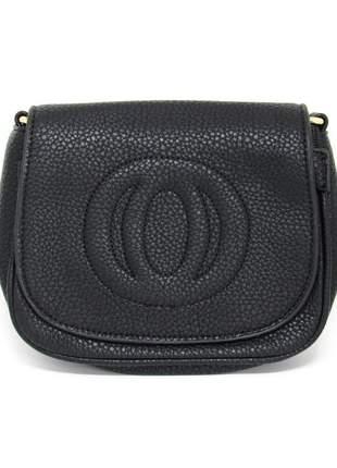 Bolsa alça corrente com tassel preta
