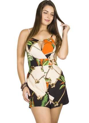 Macaquinho dress code moda estampado