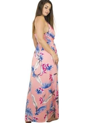 Vestido dress code moda longo floral