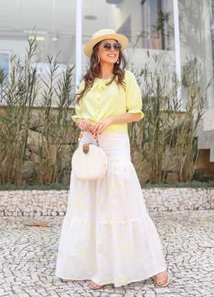 Conjunto saia e blusa moda evangélica