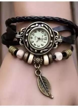 Relógio vintage feminino borboleta escolha a cor correta