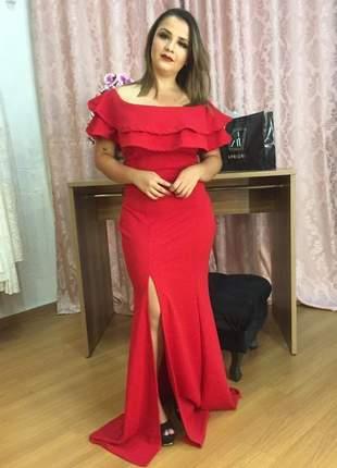 Vestido madrinha longo rosé/ vermelho