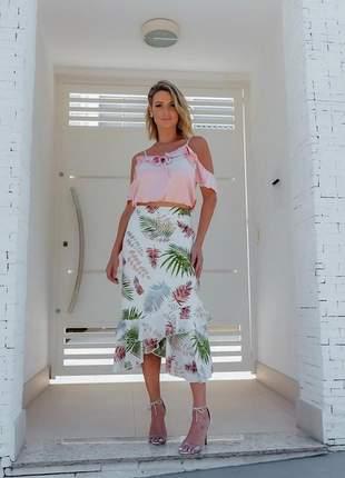 Saia + blusa, o conjunto perfeiro para essa primavera verão