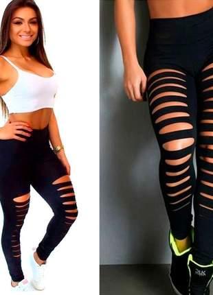 Calça giletada legging fitness crossfit