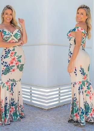 Vestido sereia tropical