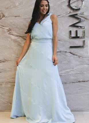 Fll17790 vestido de cetim longo