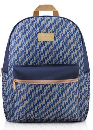 92f43624d Mochila feminina escolar estampada azul marinho - R$ 79.90 (em ...