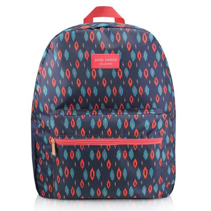 6147d0a40 Mochila feminina escolar estampada azul marinho - R$ 79.90 (em ...