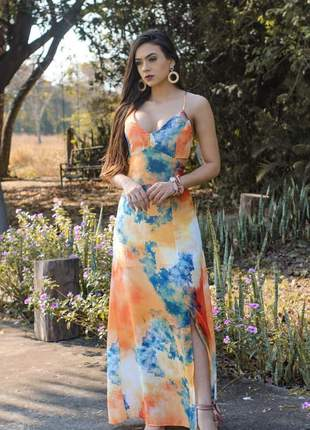 Vestido longo sabrina