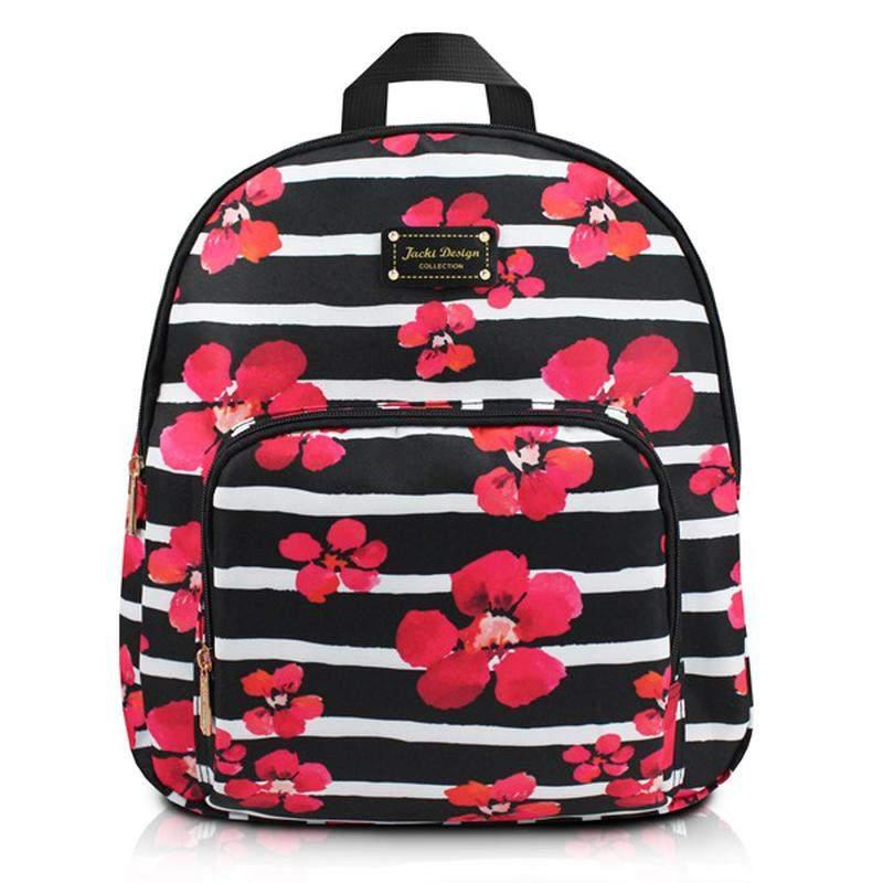 736a8a2c2 Mochila feminina escolar com estampa floral preta - R$ 79.90 (em ...