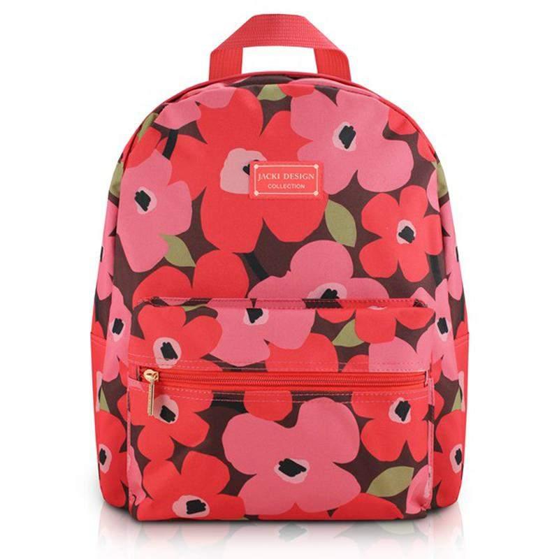 41f0e468a Mochila feminina escolar com estampa floral rosa - R$ 69.90 (em ...