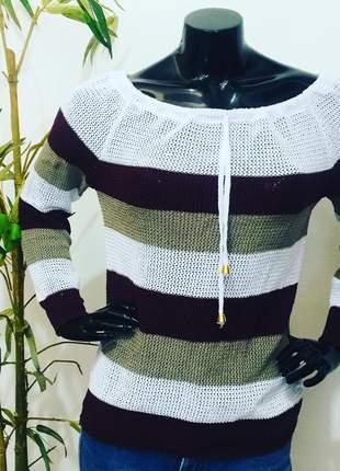 Blusa ciganinha tricot