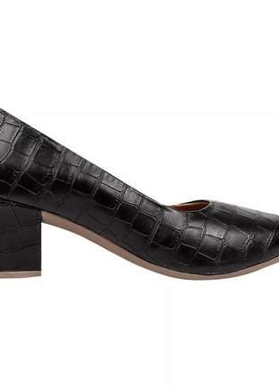 Sapato scarpin feminino chiquiteira chiqui/1120  preto croco ou nude= bege, leia o anúncio