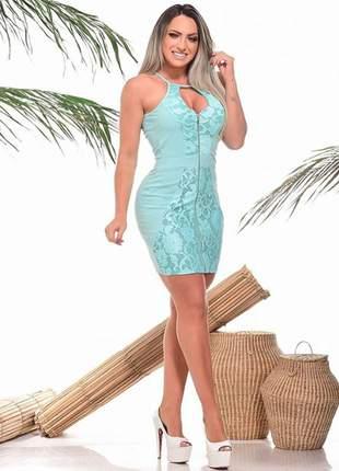 Vestido feminino curto decotado ref 699