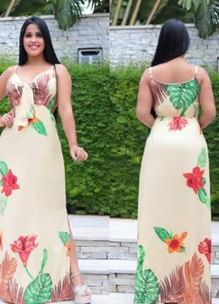 Vestido longo floral ref 708