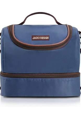 Bolsa térmica fitness com 2 compartimentos azul