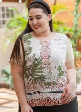 7780-blusa plus size estampa mista exclusiva