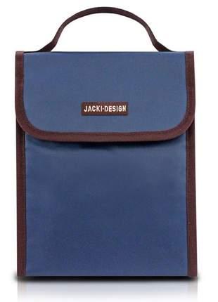 Bolsa térmica fitness com alça de mão azul