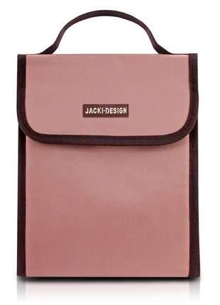 Bolsa térmica fitness com alça de mão rosa