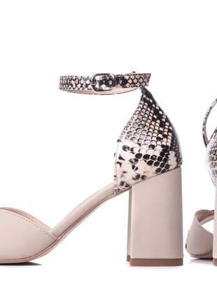 Sandália feminina  cobra animal print