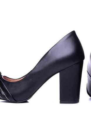 Sapato scarpin  napa preto;
