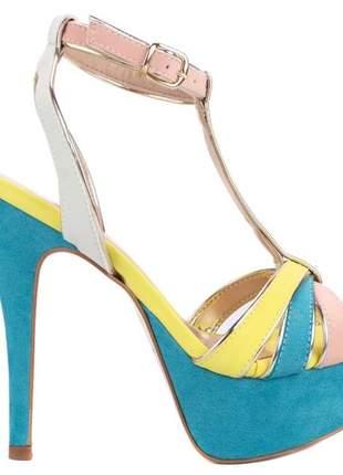Sandália meia pata colors