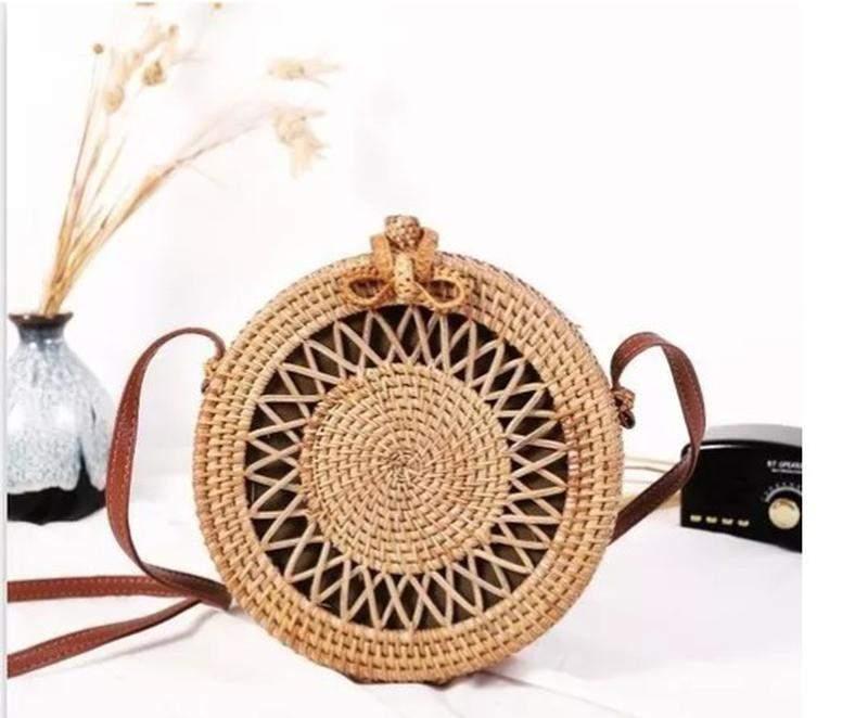 Borse a tracolla in fibra naturale e paglia set, super chic e alla moda, la combinazione perfetta.