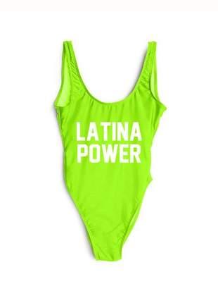 Maiô com frase latina power