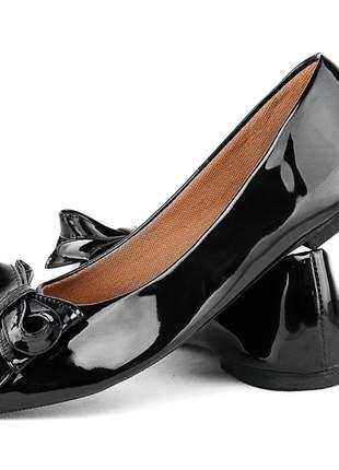 Sapatilhas sapatofran bico fino enfeite laço feminina ref 102