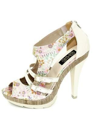 Sandália fernando pires chic floral