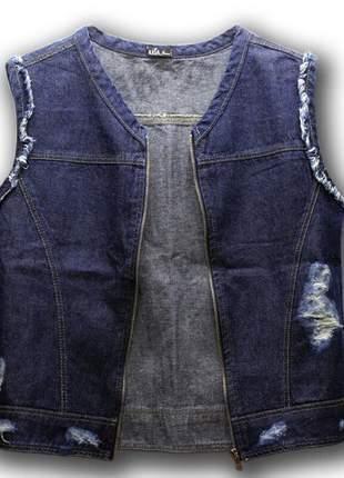 Colete jeans axia shop escuro