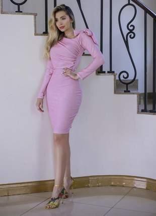 Vestido rosa bebê  festa