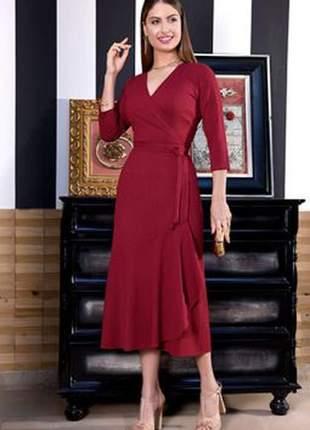 Vestido moda evangélica  com amarração