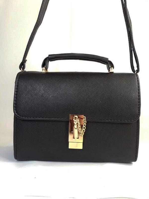 cfb541b91 Bolsa bag sara preta, couro ecológico - R$ 158.00 (tiracolo, para ...