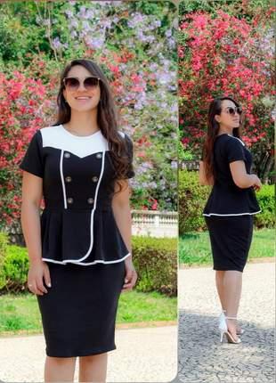 Vestido moda evangélica social ref 713