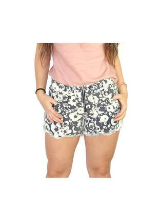 Short jeans estampado floral