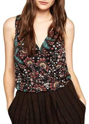 Blusinha floral tank top bcbg marca de gossip girl