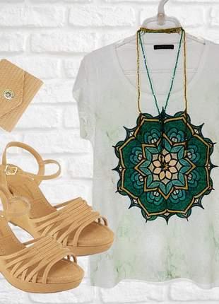 Kit sandália anabela vizzano e camiseta
