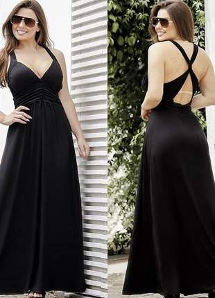 Vestido longo costas aberta verão