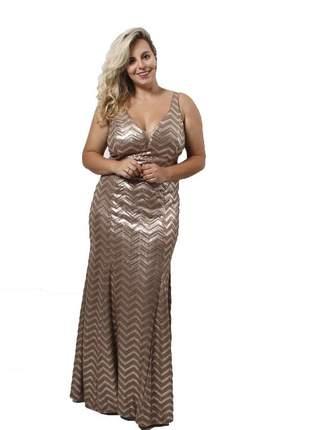 Fllm17683 vestido longo de paetê