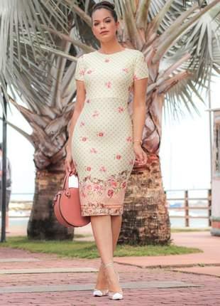 Vestido tubinho luxuoso social rosê