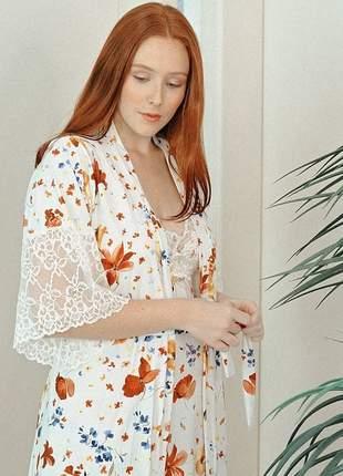 Robe slim floral