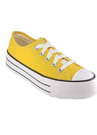 Tenis casual plataforma amarelo